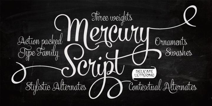 Mercury Script font by Emil Karl Bertell
