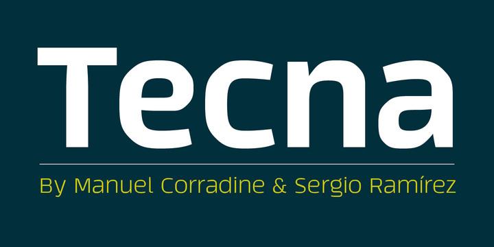 Tecna font by Manuel Eduardo Corradine Sergio Ramirez