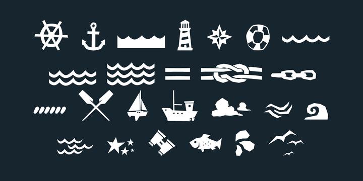 Saline-font-nautical-marine-ornaments