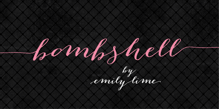 Bombshell-Font-by-Emily-Conners
