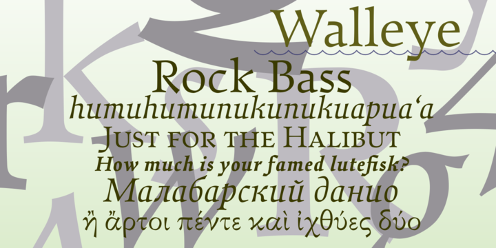 Walleye-Font-by-Nathanael-Bonnell