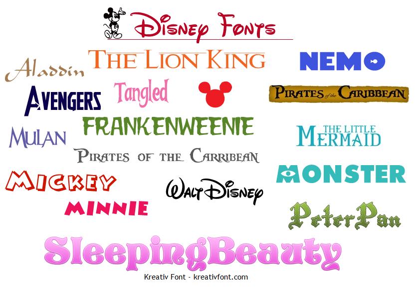 Fonts-from-Walt-Disney-stories